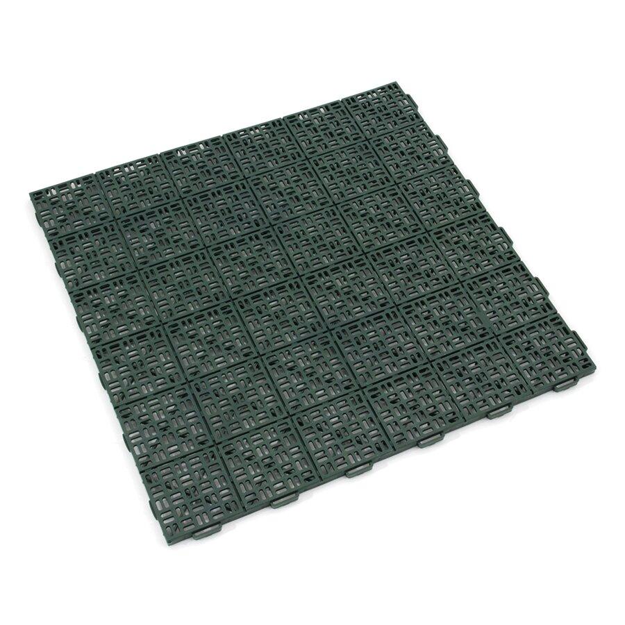 Zelená plastová děrovaná terasová dlažba Linea Marte - délka 56,3 cm, šířka 56,3 cm a výška 1,3 cm