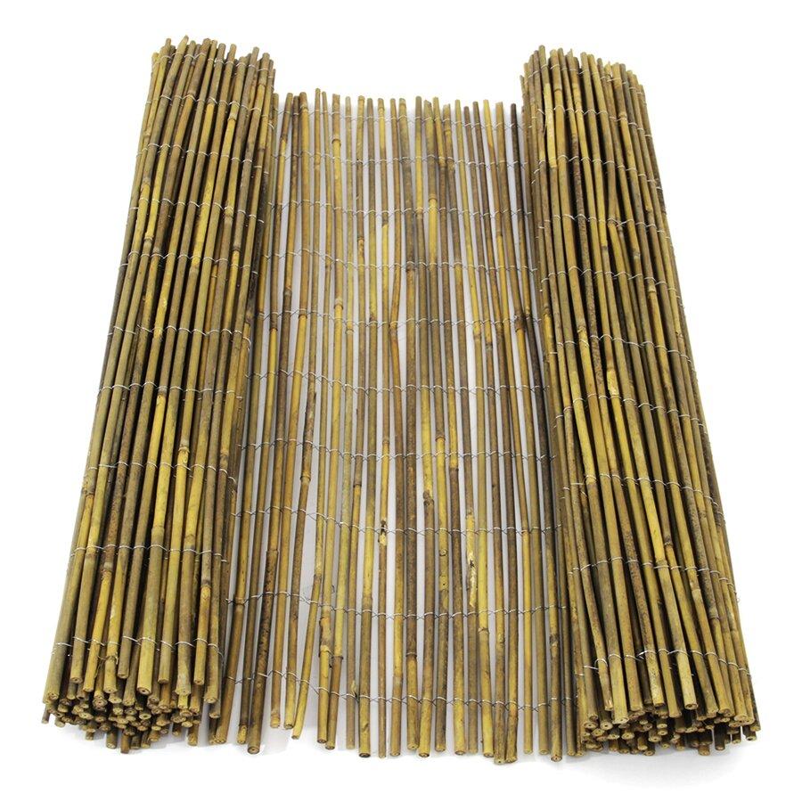 """Bambusová stínící rohož """"celý neštípaný bambus nelakovaný"""" - délka 300 cm a výška 100 cm"""