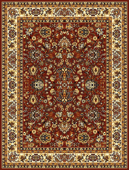 Hnědý orientální kusový koberec Teheran-T - délka 60 cm a šířka 40 cm