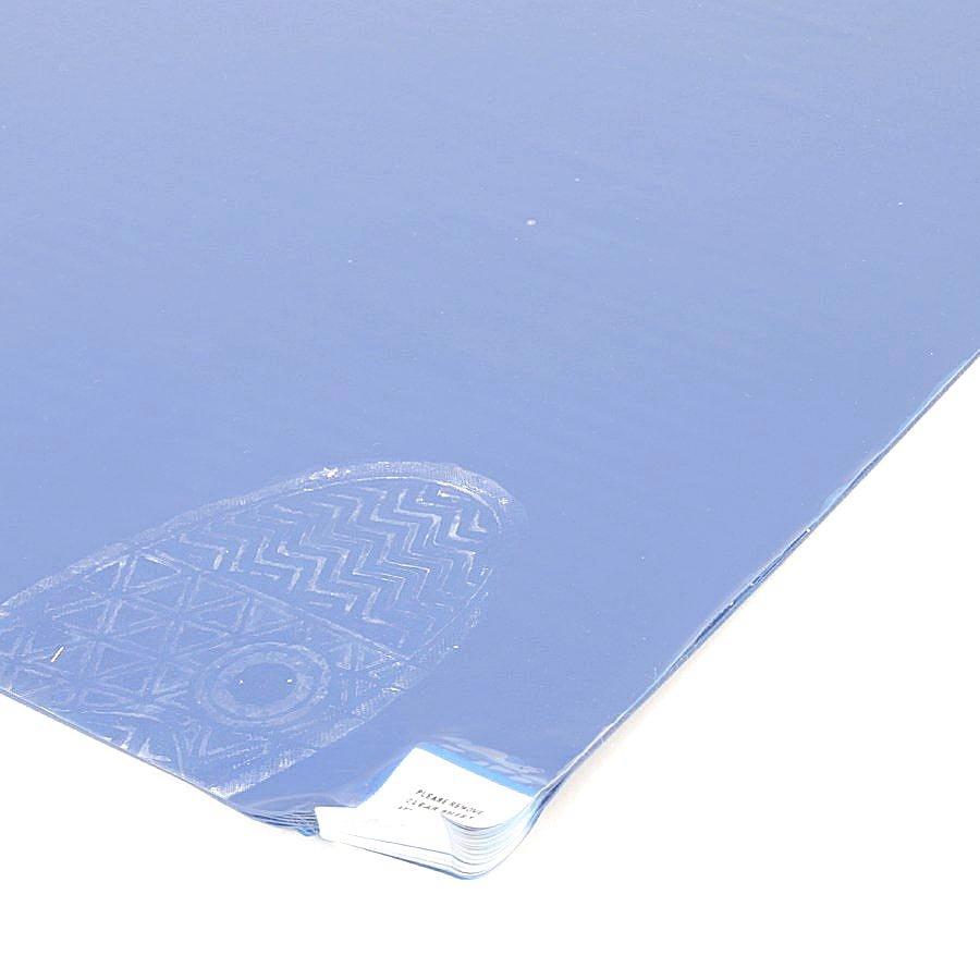 Světle modrá dezinfekční lepící dekontaminační rohož Sticky Mat, FLOMA - 60 listů