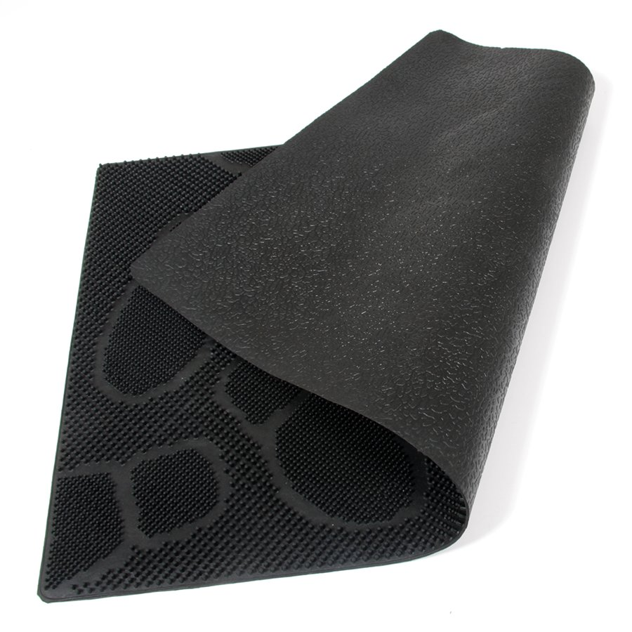 Gumová čistící venkovní vstupní rohož FLOMA Shoes - délka 45 cm, šířka 75 cm a výška 0,8 cm