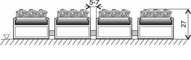 Textilní hliníková vnitřní vstupní rohož Alu Standard, FLOMA - délka 100 cm, šířka 100 cm a výška 2,7 cm