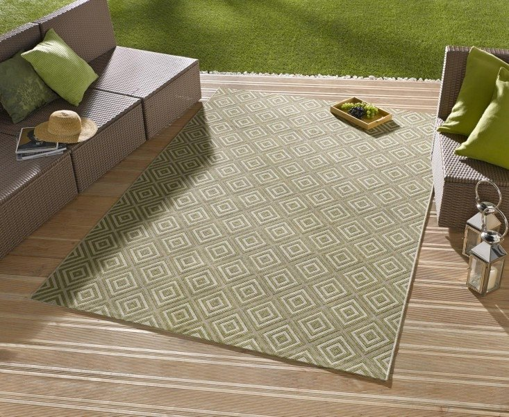 Zelený kusový koberec Meadow