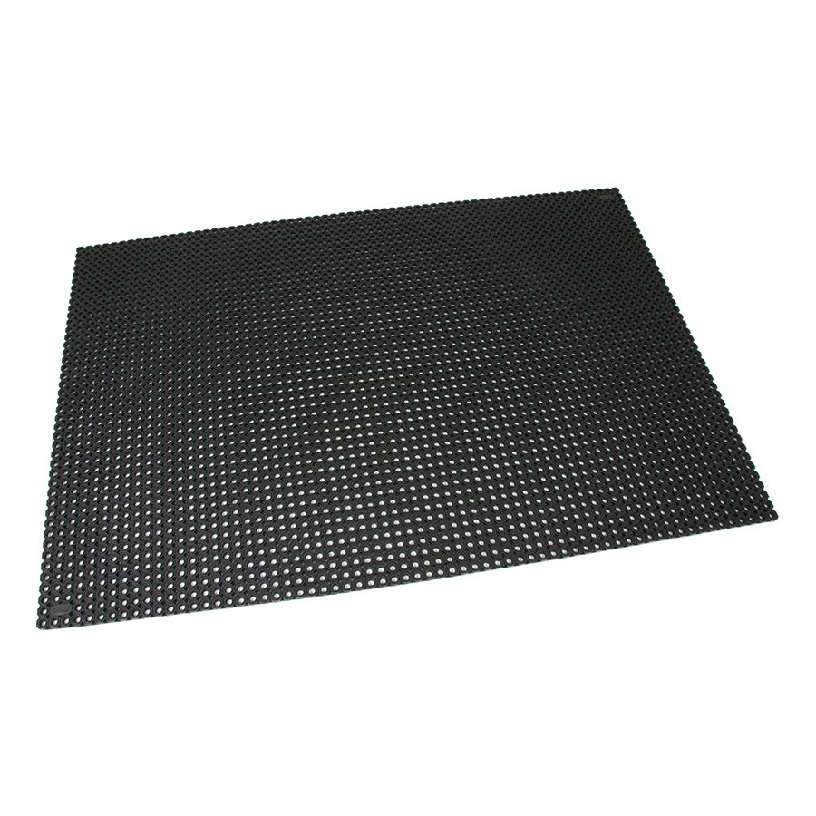 Černá gumová vstupní venkovní čistící rohož Octomat Mini, FLOMA - délka 100 cm, šířka 150 cm a výška 1,25 cm