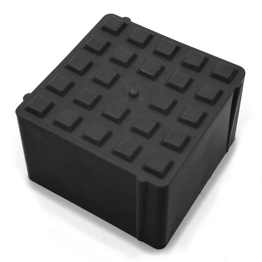Černý plastový vyznačovací prvek FLOMA ProGrass MAX - délka 9,7 cm, šířka 9,7 cm a výška 5,9 cm