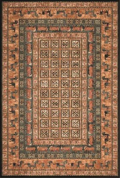 Hnědý orientální kusový koberec Kashqai - délka 200 cm a šířka 135 cm