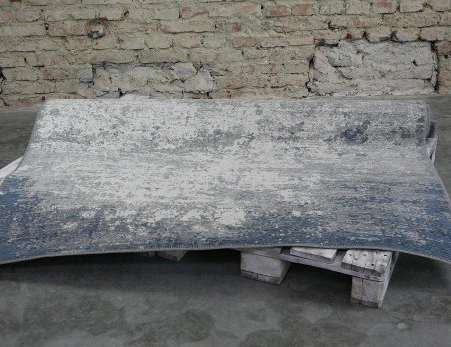 Modro-šedý kusový moderní koberec Origins - délka 150 cm a šířka 85 cm