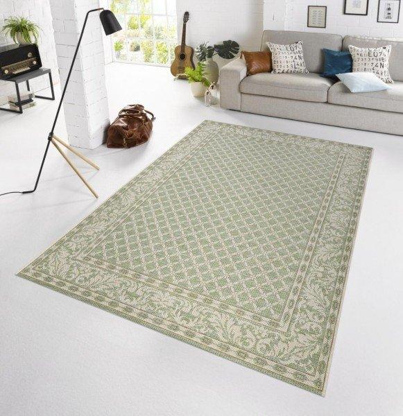 Zelený moderní kusový koberec Botany - délka 165 cm a šířka 115 cm