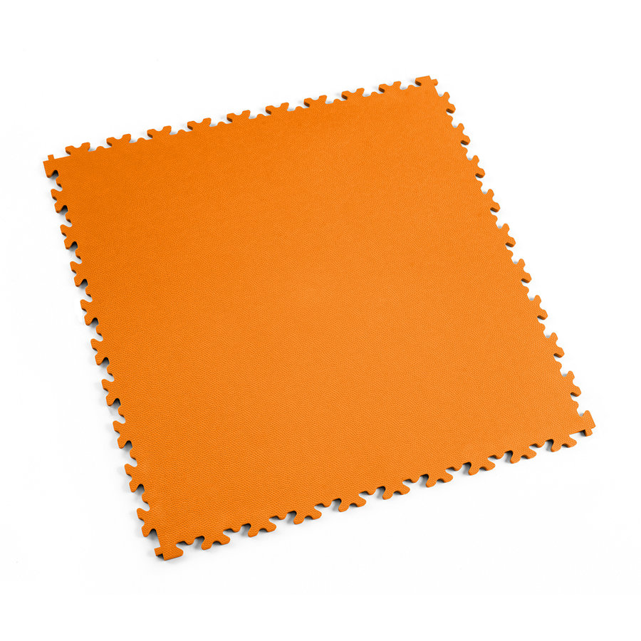 Oranžová vinylová plastová zátěžová dlaždice Industry 2020 (kůže), Fortelock - délka 51 cm, šířka 51 cm a výška 0,7 cm