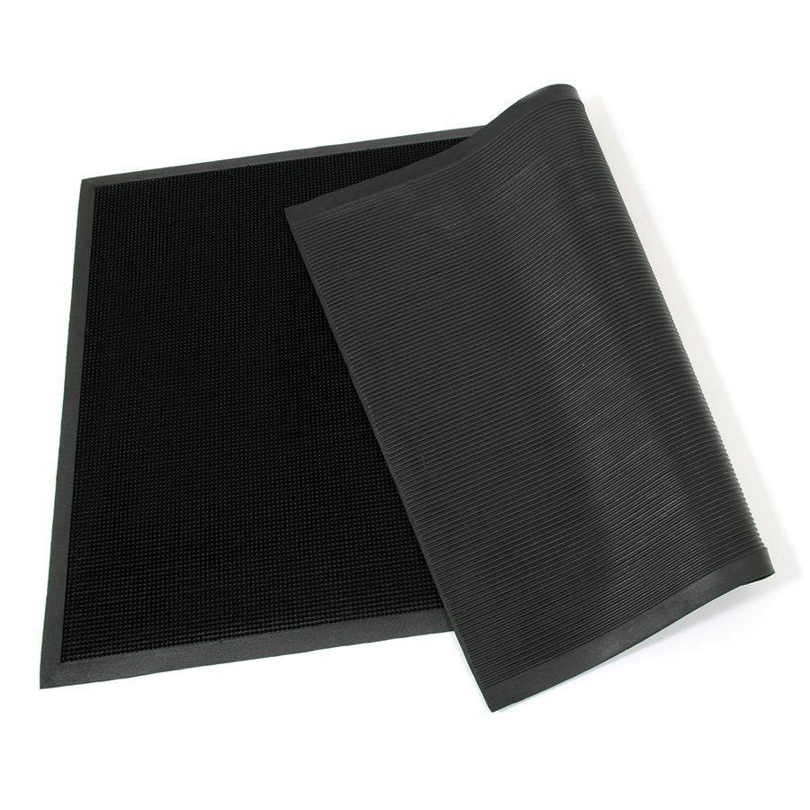 Gumová vstupní venkovní čistící rohož Rubber Brush, FLOMA - délka 90 cm, šířka 150 cm a výška 1,2 cm
