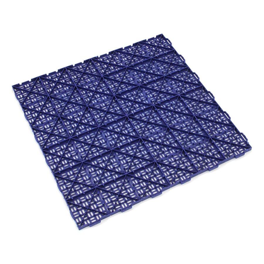 Modrá plastová děrovaná terasová dlažba Linea Marte - délka 56,3 cm, šířka 56,3 cm a výška 1,3 cm