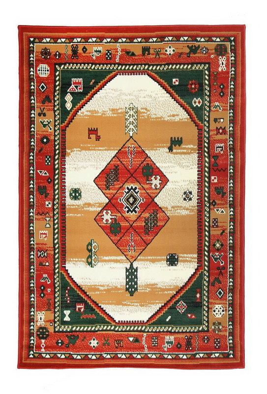 Červený kusový orientální koberec Teheran-T - délka 150 cm a šířka 80 cm