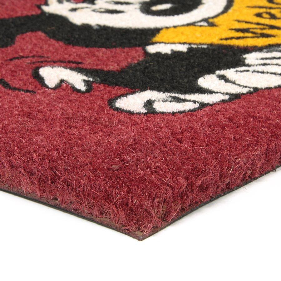 Kokosová vstupní venkovní čistící rohož Welcome - Dog, FLOMA - délka 45 cm, šířka 75 cm a výška 1,7 cm