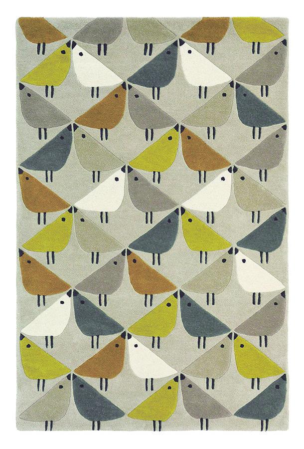 Různobarevný kusový moderní koberec Lintu