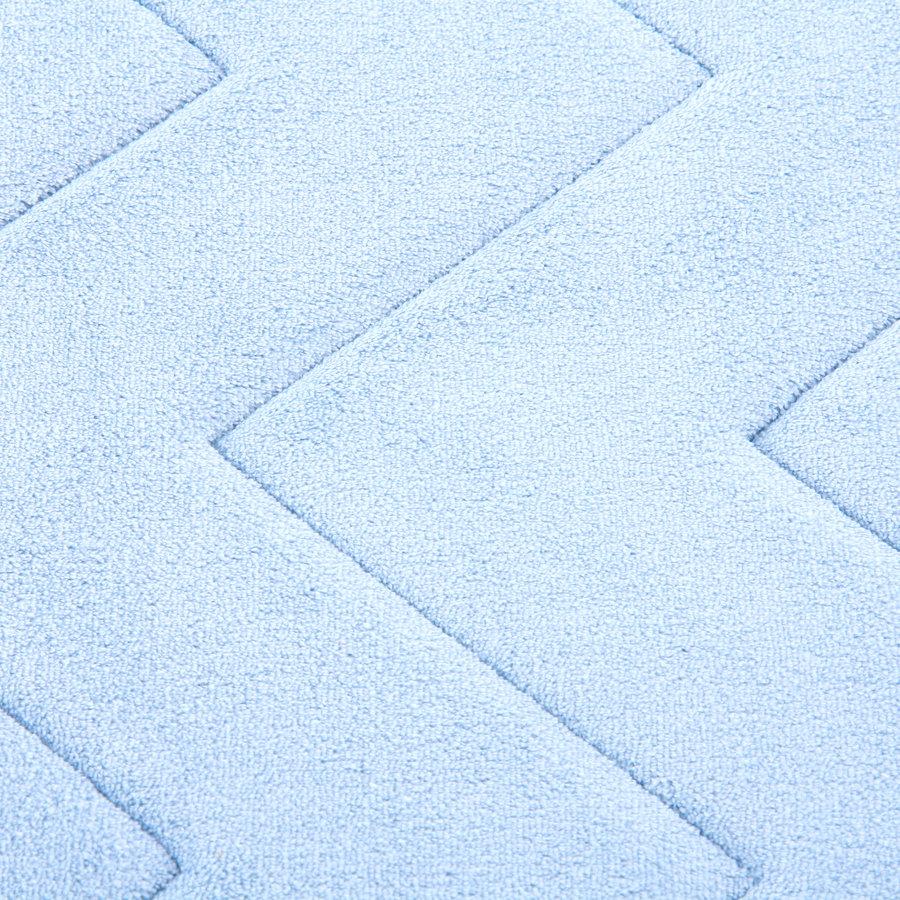Modrá koupelnová pěnová předložka 01 - délka 85 cm a šířka 52 cm