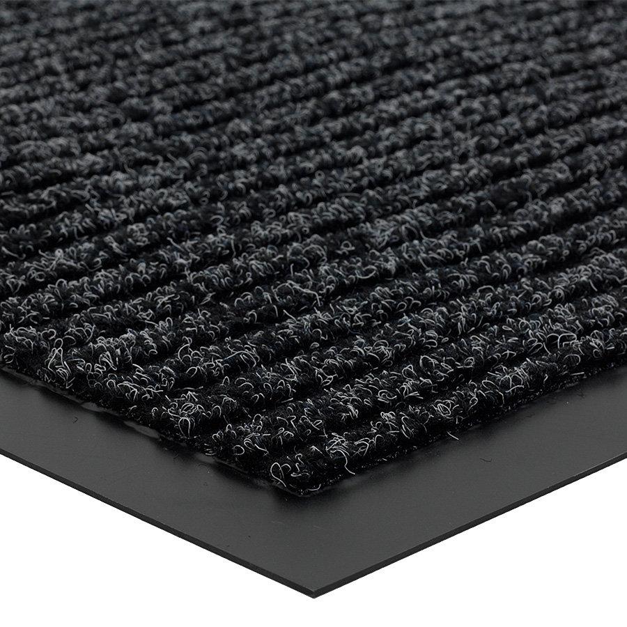 Antracitová čistící vnitřní vstupní rohož Everton, FLOMA - výška 0,6 cm