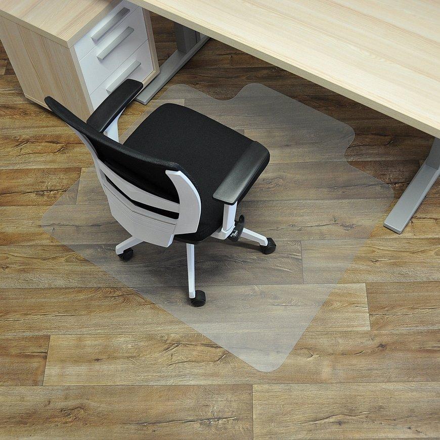 Průhledná podložka pod židli na hladké povrchy - délka 120 cm, šířka 120 cm a výška 0,15 cm