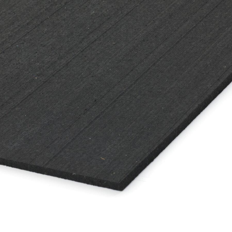Černá gumová dlažba (deska) FLOMA IceFlo SF1100 - délka 198 cm, šířka 98 cm a výška 0,8 cm