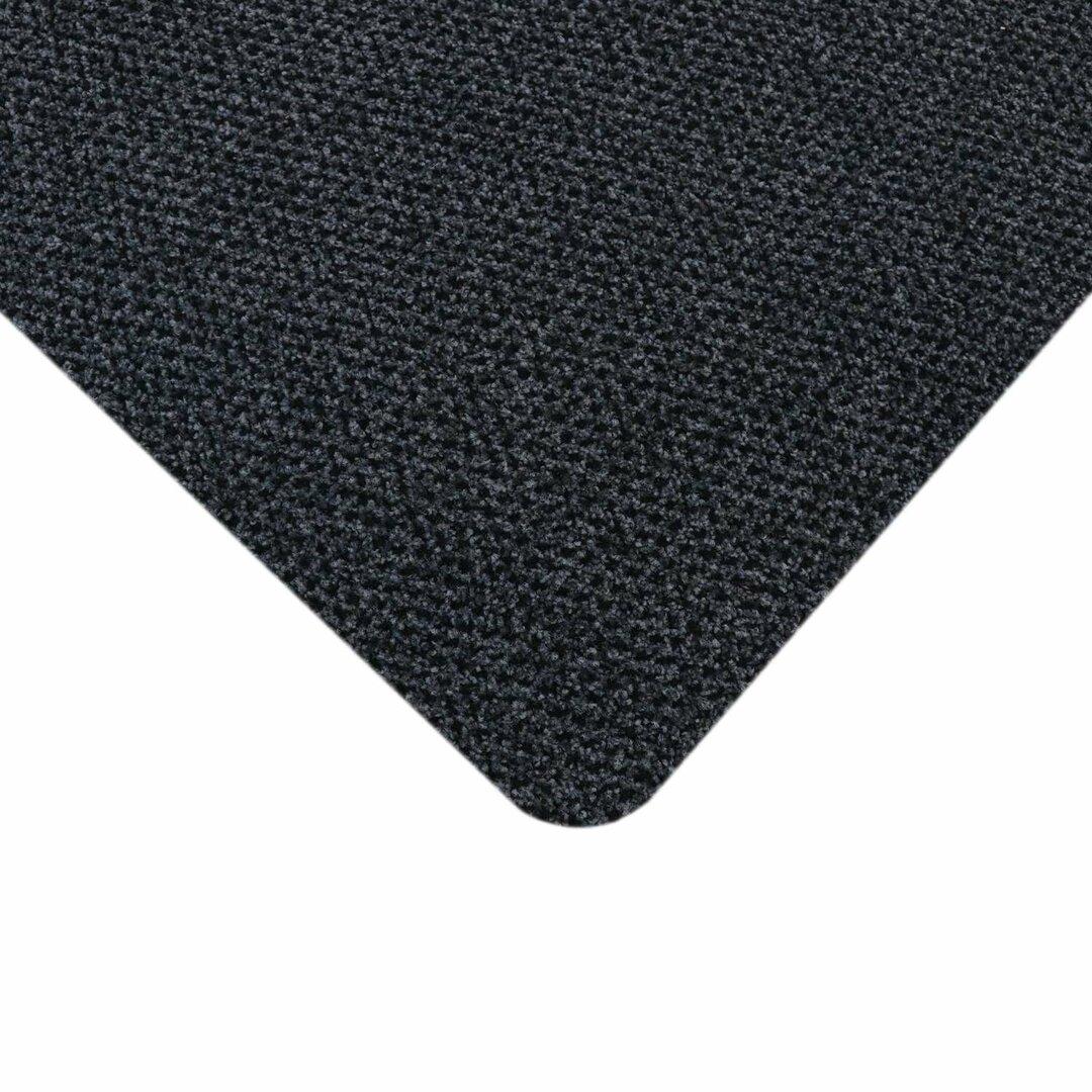 Antracitová protiúnavová protiskluzová rohož Alba - délka 85 cm, šířka 50 cm a výška 1,4 cm