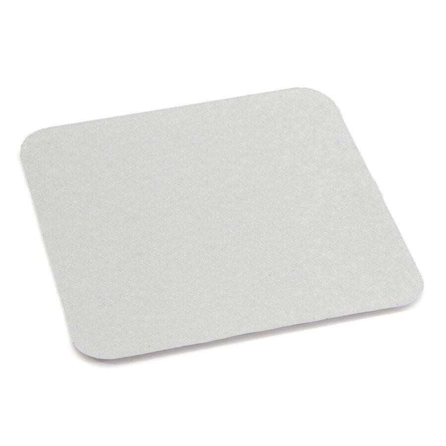 Korundová průhledná protiskluzová podlahová páska Super - délka 14 cm, šířka 14 cm a tloušťka 1 mm