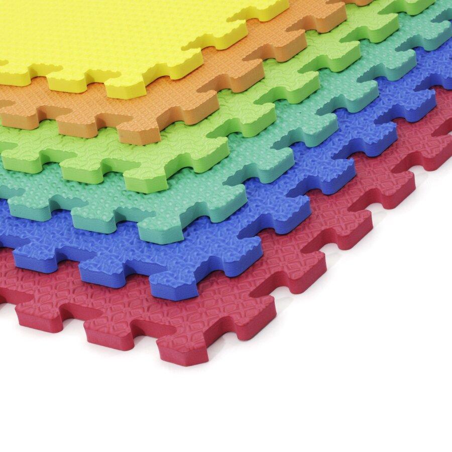 Pěnová modulová dětská hrací podložka (6x puzzle) SPARTAN SPORT - délka 46 cm, šířka 46 cm a výška 1,2 cm
