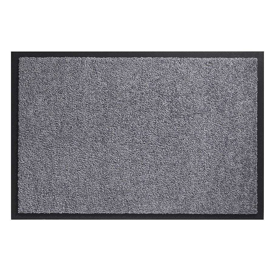 Šedá metrážová čistící vnitřní vstupní pratelná rohož Twister - délka 1 cm