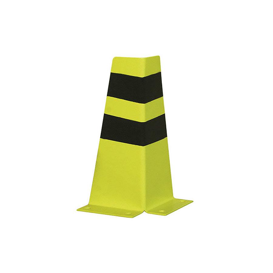 Černo-žlutá kovová ochranná hrana - šířka 15 cm, výška 36 cm a tloušťka 3 mm