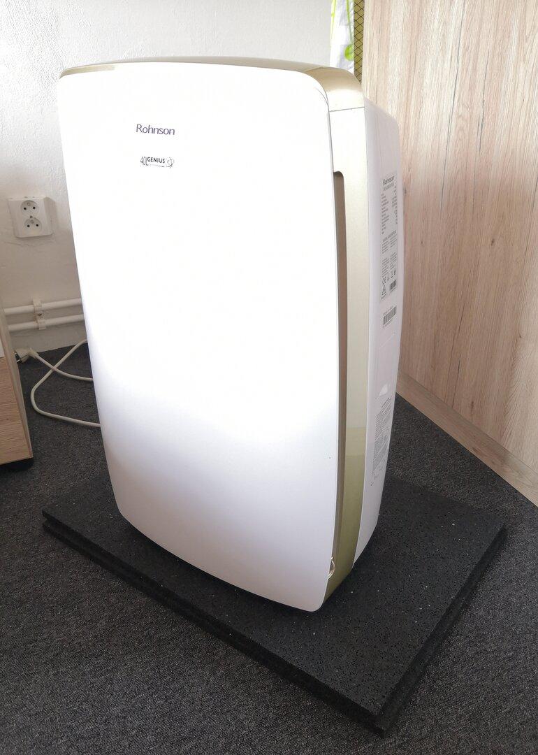 Gumová antivibrační podložka pod pračku FLOMA - délka 60 cm, šířka 60 cm a výška 1,5 cm