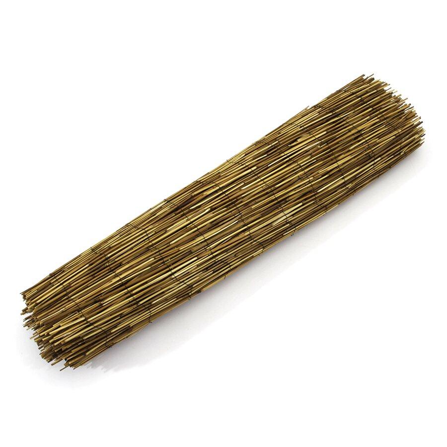 """Rákosová stínící rohož """"úzký rákos - káva"""" - délka 500 cm a výška 100 cm"""