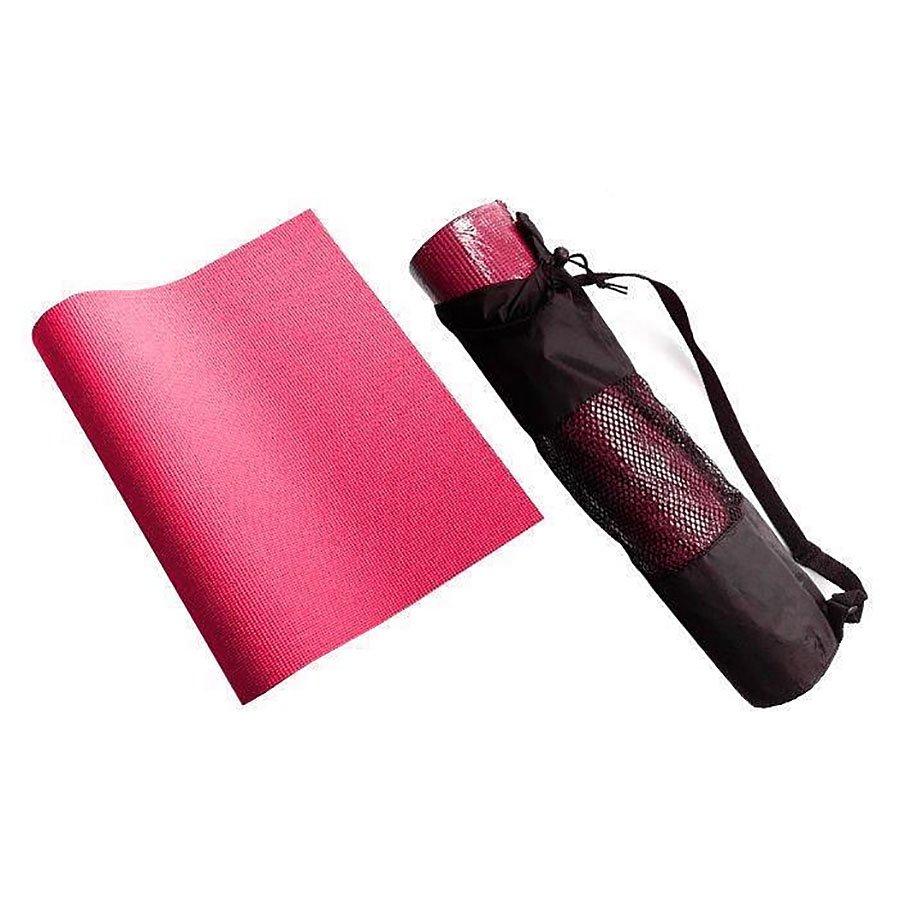 Růžová pěnová karimatka na cvičení - délka 172 cm, šířka 60 cm a výška 0,4 cm