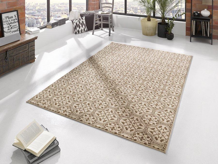 Hnědý kusový moderní koberec Gloria