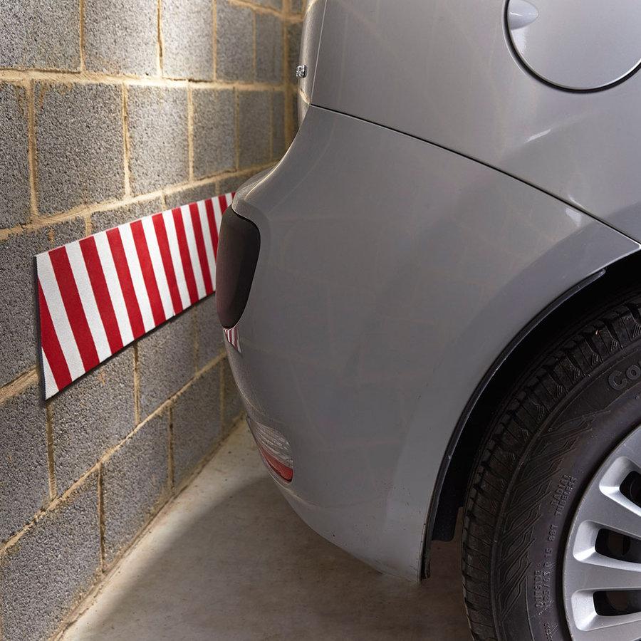 Bílo-červený pěnový ochranný pás - délka 200 cm, výška 20 cm a tloušťka 0,5 cm