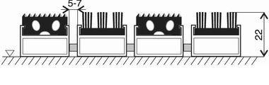 Gumová hliníková kartáčová venkovní vstupní rohož FLOMA Alu Extra - délka 100 cm, šířka 100 cm a výška 2,2 cm