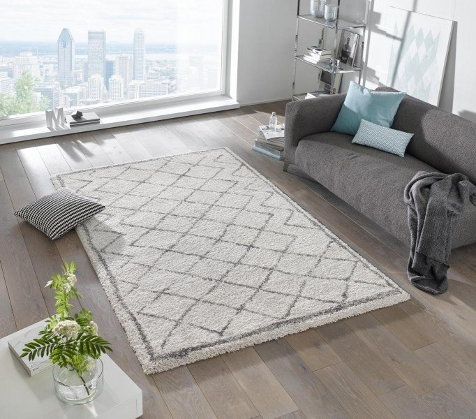 Béžový kusový moderní koberec Grace