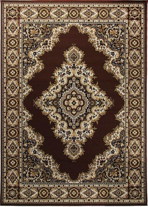 Hnědý orientální kusový koberec Practica - délka 140 cm a šířka 70 cm