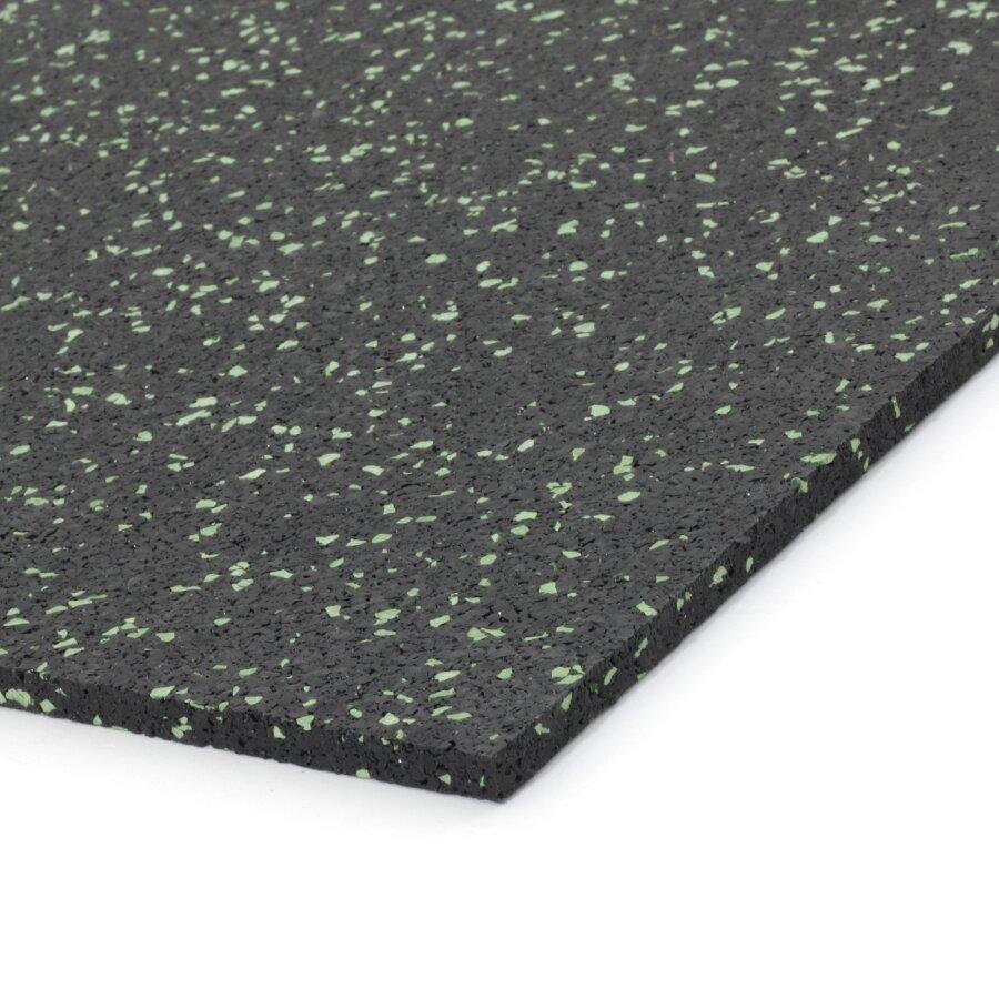Černo-zelená gumová dlažba (deska) FLOMA IceFlo SF1100 - délka 198 cm, šířka 98 cm a výška 0,8 cm