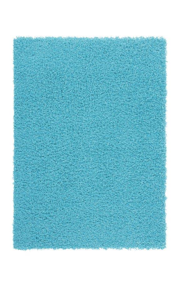Modrý kusový koberec Funky - délka 150 cm a šířka 80 cm