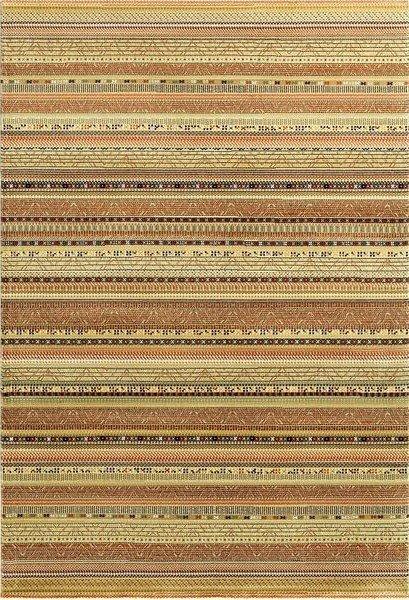 Béžový kusový moderní koberec Zheva - délka 200 cm a šířka 135 cm