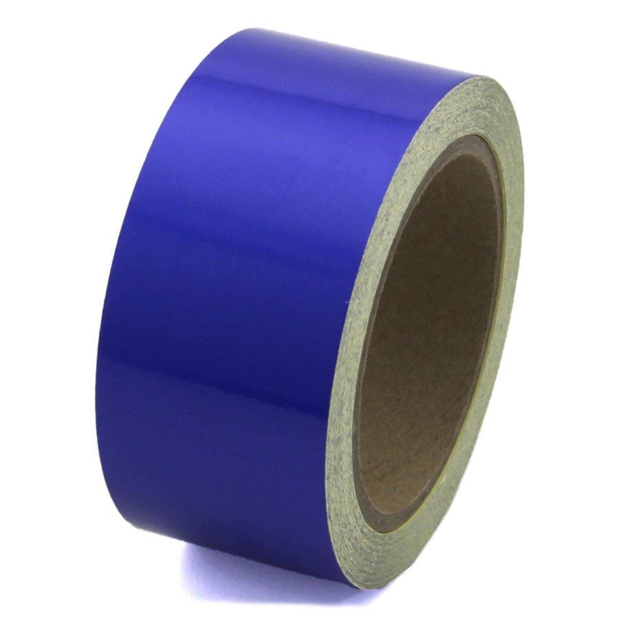 Modrá reflexní samolepící výstražná páska - délka 15 m a šířka 5 cm