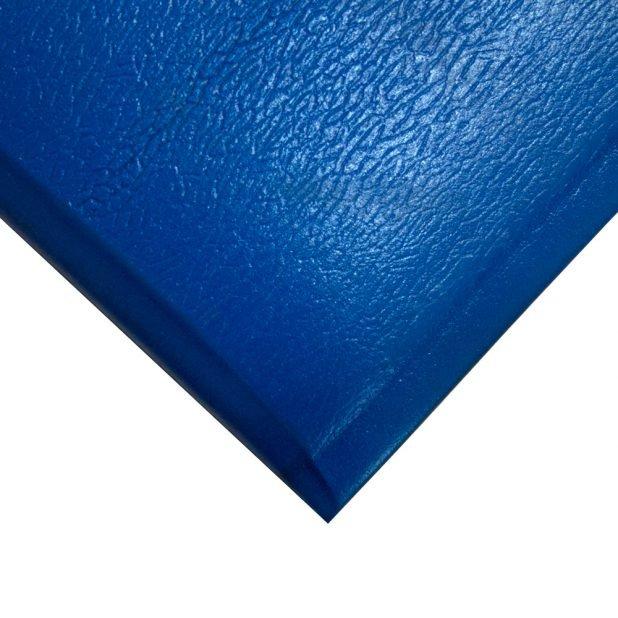 Modrá gumová protiúnavová průmyslová rohož - šířka 90 cm a výška 1,25 cm