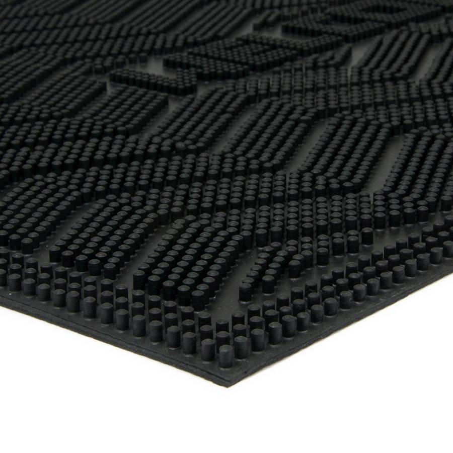 Gumová vstupní venkovní čistící rohož Welcome - Waves, FLOMA - délka 40 cm, šířka 60 cm a výška 0,8 cm