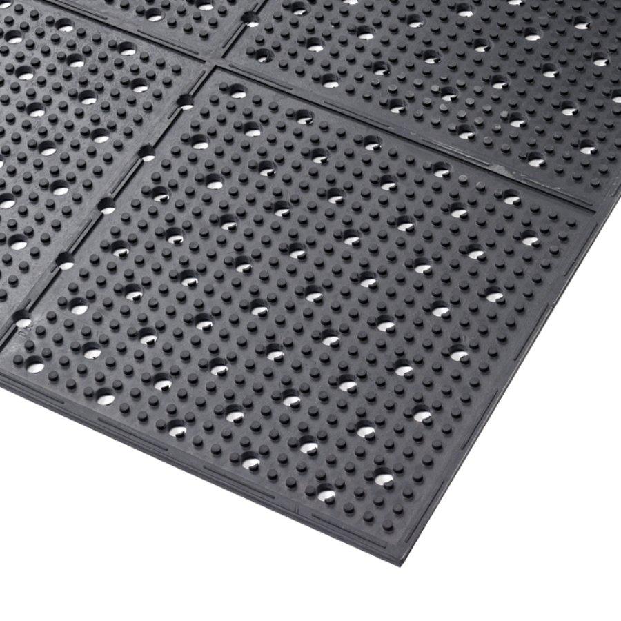 Černá gumová oboustranná protiskluzová rohož Multi Mat II - výška 0,95 cm