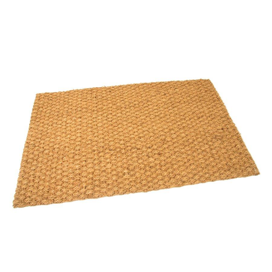 Kokosová přírodní vstupní vnitřní venkovní čistící rohož - délka 50 cm, šířka 80 cm a výška 1 cm