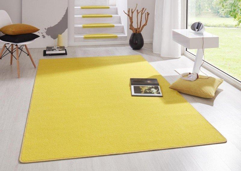 Žlutý kusový koberec Fancy - délka 195 cm a šířka 133 cm