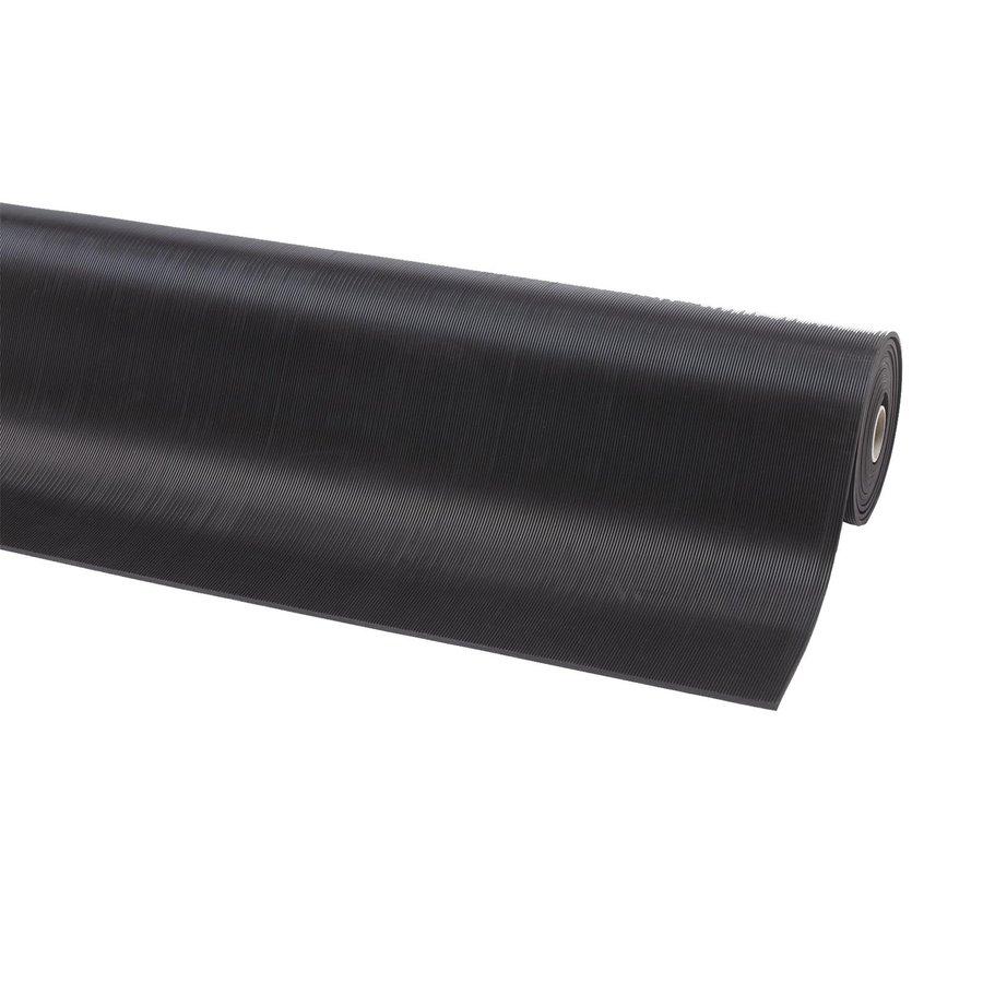 Černá gumová metrážová protiskluzová průmyslová rohož - šířka 120 cm a výška 0,3 cm