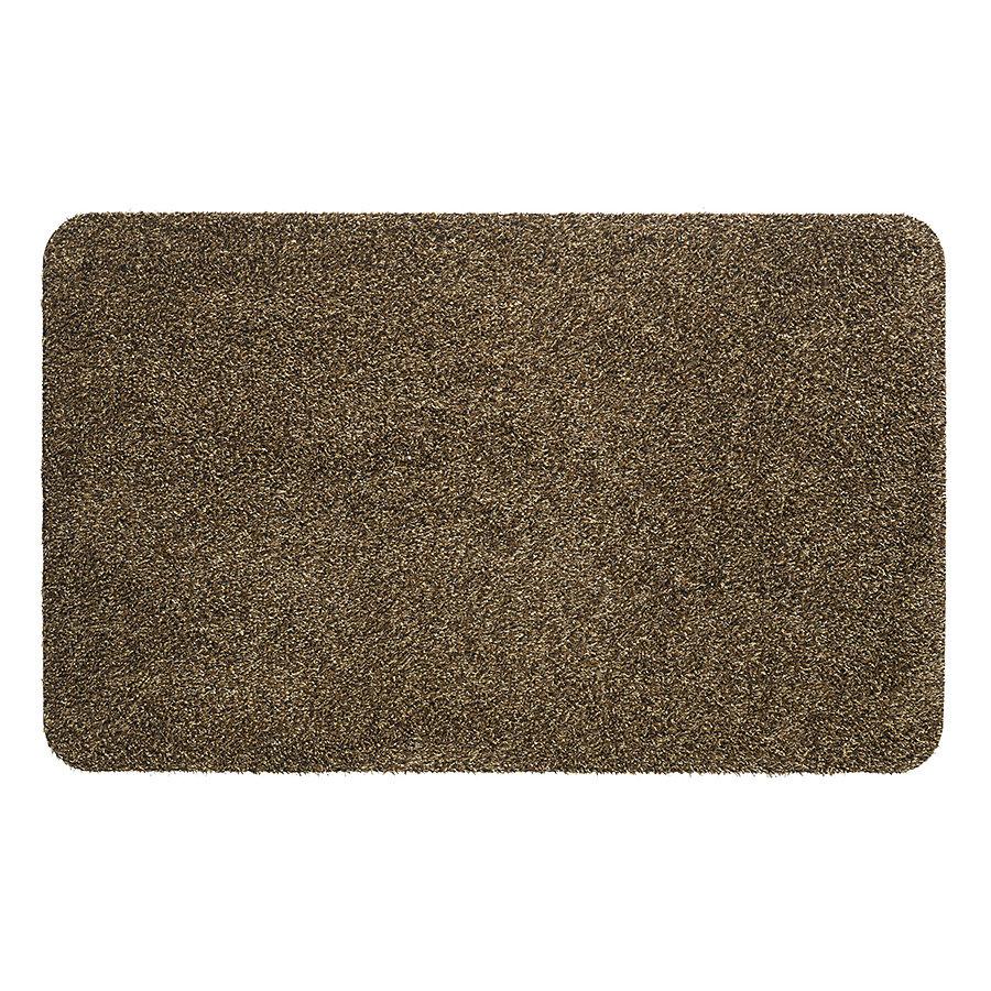 Hnědá vnitřní čistící pratelná vstupní rohož FLOMA Global - délka 40 cm, šířka 60 cm a výška 0,4 cm