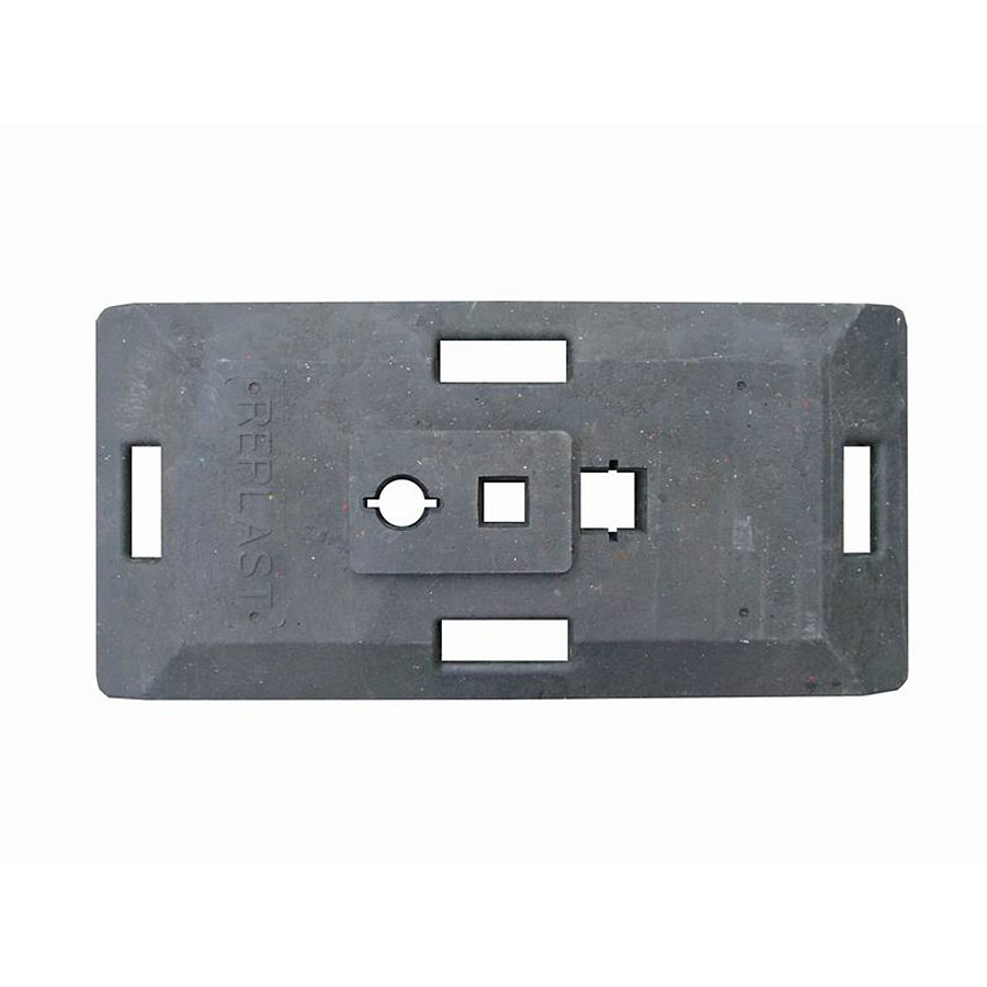 """Černý plastový podstavec pod dopravní značky """"CZ 1"""" - délka 85 cm, šířka 41 cm a výška 10 cm"""
