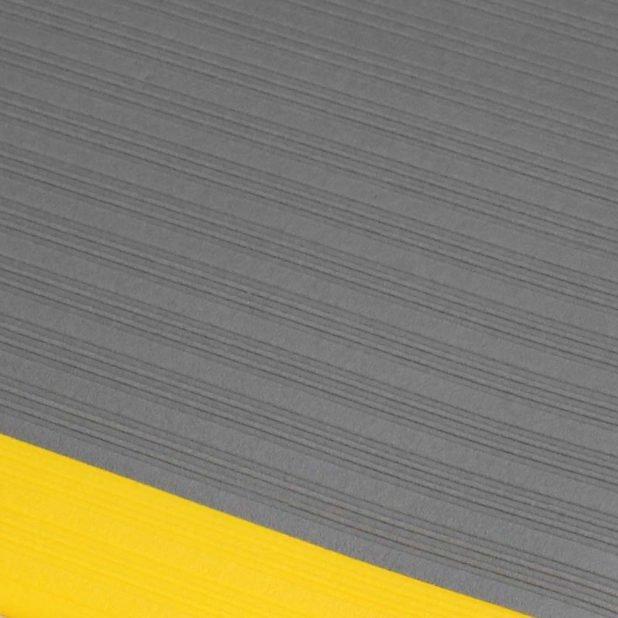 Šedo-žlutá průmyslová protiúnavová protiskluzová pěnová rohož - délka 18,3 m, šířka 90 cm a výška 0,9 cm