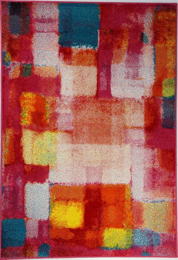 Červený kusový koberec City - délka 140 cm a šířka 100 cm