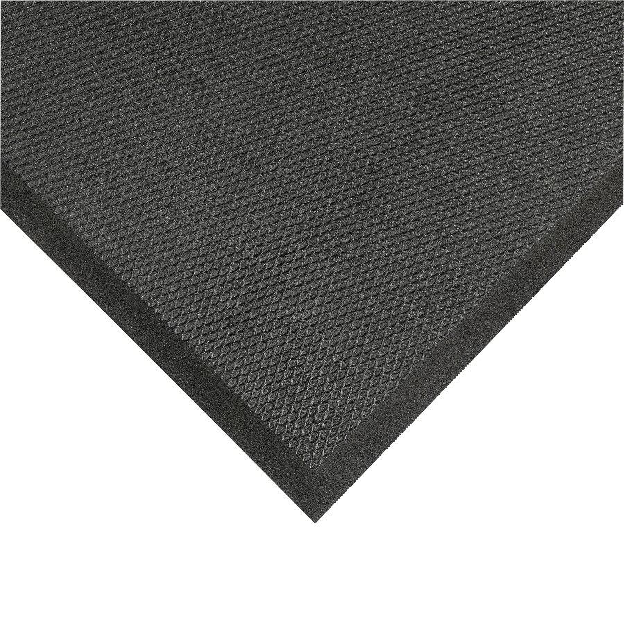 Černá protiúnavová olejivzdorná rohož Posture Mat - délka 177 cm, šířka 60 cm a výška 1,9 cm
